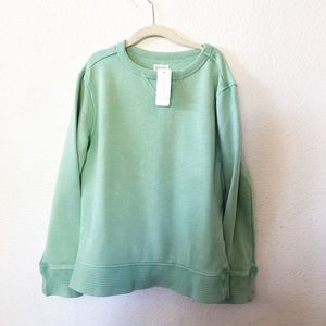 GYMBOREE MINT GREEN SWEATSHIRT GIRLS 5-6 S NEW
